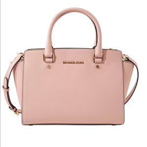 Micheal Kors Medium Pink Satchel Bag (Selma)